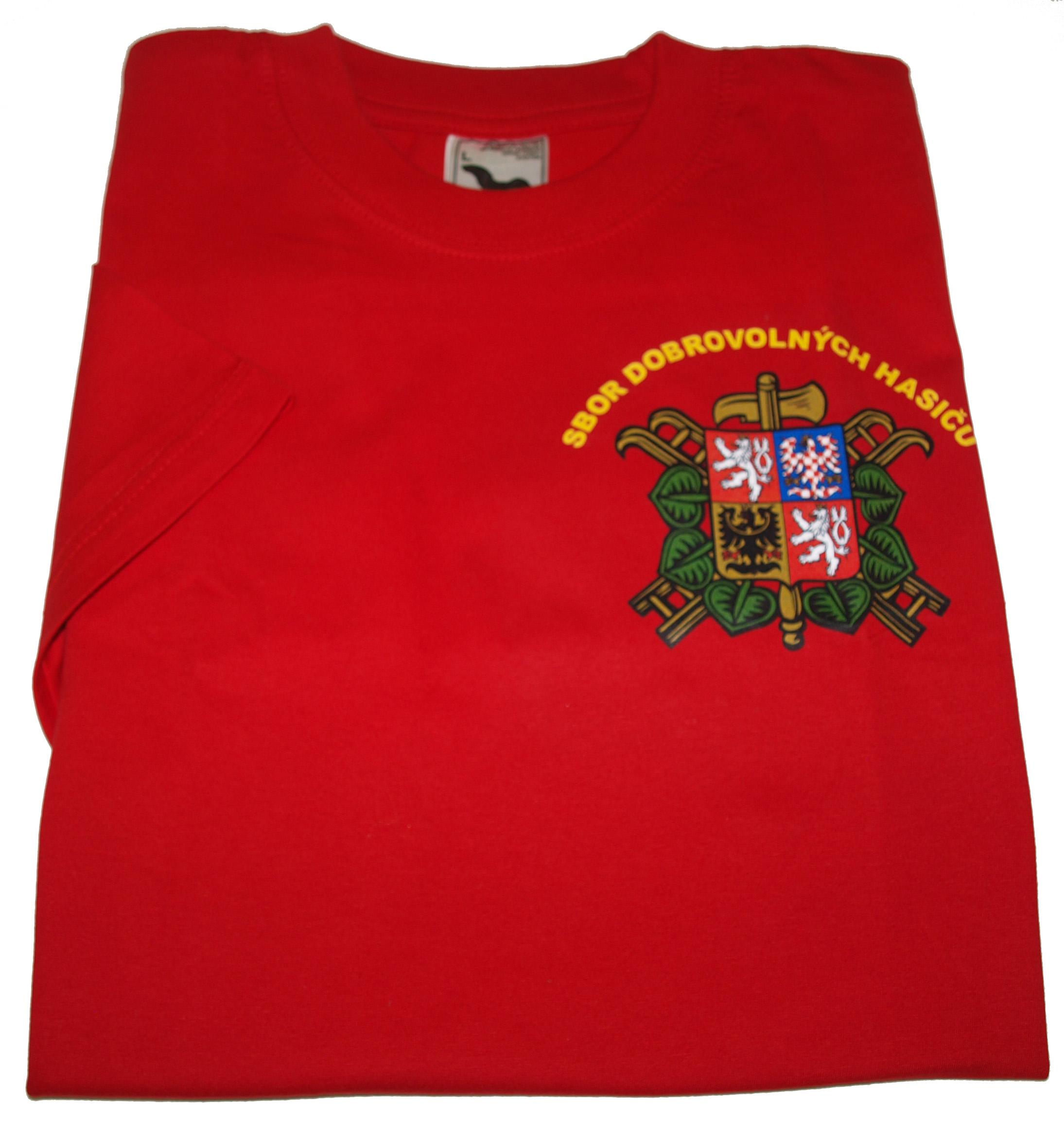 c7c830372d1 Tričko SDH dlouhý rukáv červené se znakem SDH a nápisem Hasiči ...