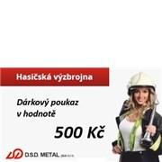 Poukázka na nákup v hodnotě 500 Kč v e-shopu hasicskavyzbrojna.cz nebo kamenné prodejně