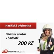 Poukázka na nákup v hodnotě 200 Kč v e-shopu hasicskavyzbrojna.cz nebo kamenné prodejně