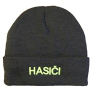 Čepice zimní pletená - s nápisem HASIČI