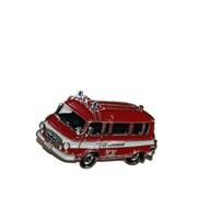 Odznak kovový hasičská auta - Feuerwehr BARKAS /ruční barvení/