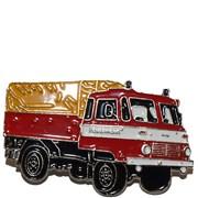 Odznak kovový hasičská auta - Feuerwehr ROBUR 1 /ruční barvení/