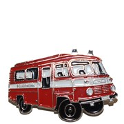 Odznak kovový hasičská auta - Feuerwehr ROBUR 2 /ruční barvení/