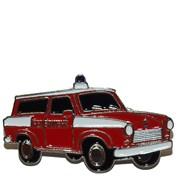 Odznak kovový hasičská auta - Feuerwehr TRABANT /ruční barvení/