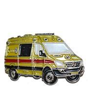 Odznak kovový hasičská auta - záchranka MB /ruční barvení/