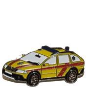 Odznak kovový hasičská auta - záchranka Škoda  OCTAVIA /ruční barvení/