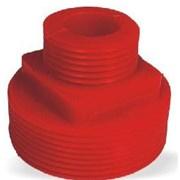 Přechod C/D plast.bez spojek - červený PE