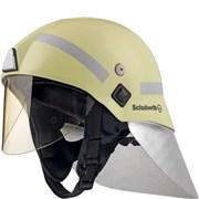 Přilba zásahová Schuberth F220  /žlutozelená luminiscenční, reflex.polepy/ + zátylník Al