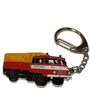 Přívěšek kovový hasičská auta - Feuerwehr ROBUR 1 /ruční barvení/