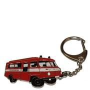 Přívěšek kovový hasičská auta - Feuerwehr ROBUR 2 /ruční barvení/