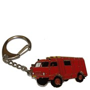 Přívěšek kovový hasičská auta - Hasiči TATRA 805 /ruční barvení/