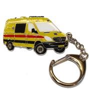 Přívěšek kovový hasičská auta - záchranka MB /ruční barvení/