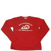Tričko logo D.S.D. červené, dlouhý rukáv