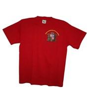 Tričko SDH krátký rukáv červené s nápisem Hasiči