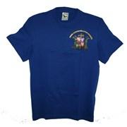 Tričko SDH krátký rukáv královská modrá s nápisem Hasiči