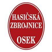 Cedule smaltovaná - nápis Hasičská zbrojnice bez znaku s názvem obce (ovál 52×67 cm)