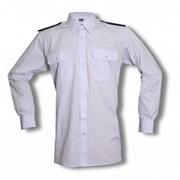 Košile bílá dlouhý rukáv s nárameníky