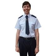 Košile světle modrá krátký rukáv s nárameníky