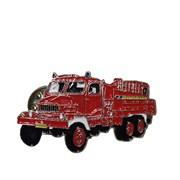Odznak kovový hasičská auta - PRAGA V3S -  4 cm / ruční barvení /