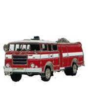 Odznak kovový hasičská auta - MATES - 4cm /ruční barvení/