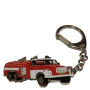 Přívěšek kovový hasičská auta - TATRA 148  - 6cm /ruční barvení/