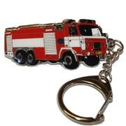 Přívěšek kovový hasičská auta - TATRA 815 - 6cm /ruční barvení/