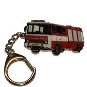 Přívěšek kovový hasičská auta - CAS LIAZ 101 - 6cm /ruční barvení/