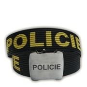 Opasek POLICIE - plátěný 120cm - černý