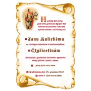 Diplom - Gratulační list A4 Hasiči
