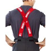 Šle DEVA k zásahovému oděvu /červeno-bílé/ na suchý zip šíře 5cm /pro zásahový oděv/