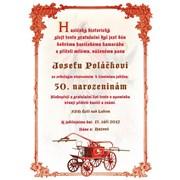 Diplom - Gratulační list A4 Hasiči č. 5