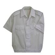 Bundokošile bílá krátký rukáv s nárameníky - prodloužená