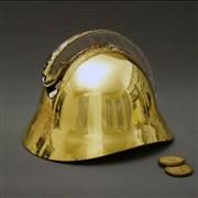 Přilba skleněná hasičská - zlacená