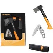 FISKARS - Dárkový set sekera, ostřič, nůž
