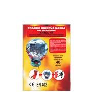 Maska - úniková požární jednorázová /únikový filtrační dýchací přístroj/