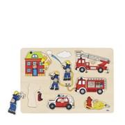 Hračka - Puzzle dřevěné s úchytkami HASIČI - VÝPRODEJ