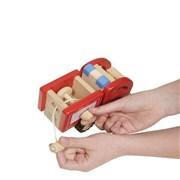 Hračka - Auto dřevěné s hadicí - VÝPRODEJ