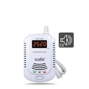 Hlásič  SAFE-808L - detektor hořl.plynů (zemní plyn, metan, PB) - LCD displej, hlasové varování