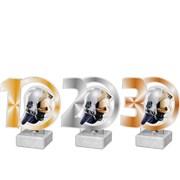 Poháry - trofej akrylátová /sada/ - hasičská helma /11cm/