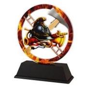 Poháry - trofej akrylátová - hasič v ohni /11cm/