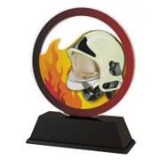 Poháry - trofej akrylátová - přilba  s ohněm /11cm/