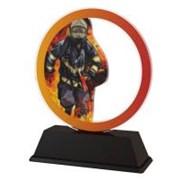 Poháry - trofej akrylátová - hadice s ohněm /11cm/