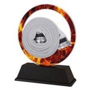 Poháry - trofej akrylátová - rozdělovač s ohněm /11cm/