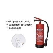KOLAUDACE - hasicí přístroj Phoenix 43A/233B + hlásič kouře Kidde 29HD