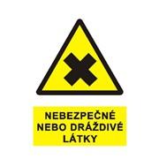 Tabulka - Nebezpečné nebo dráždivé látky, plast A4