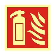 Tabulka - hasicí přístroj - fotoluminiscenční, plast 200x200