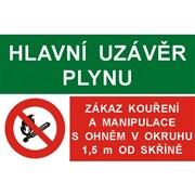 Tabulka - HUP/Zákaz kouření a manipulace s otevřeným ohněm PVC A6